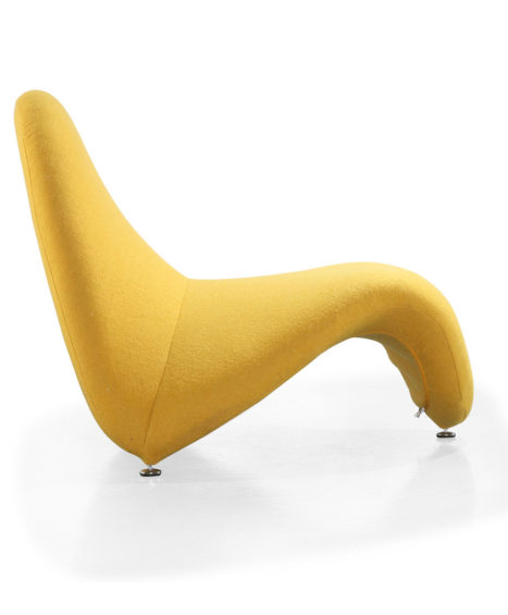 Aphrodite Chaise in Pastel Yellow